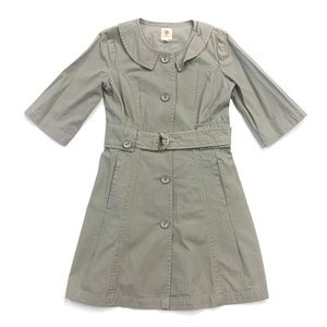 Anthropologie Tulle Short Sleeve Trench Coat
